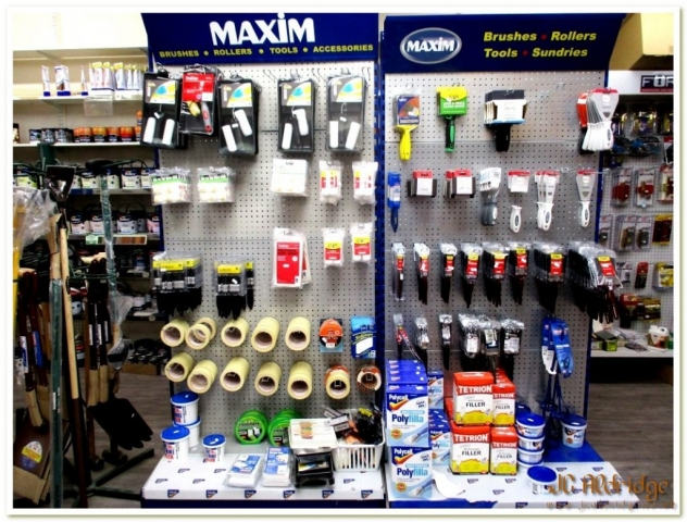 Gloucestershire builders merchants DIY brushes, rollers and tools