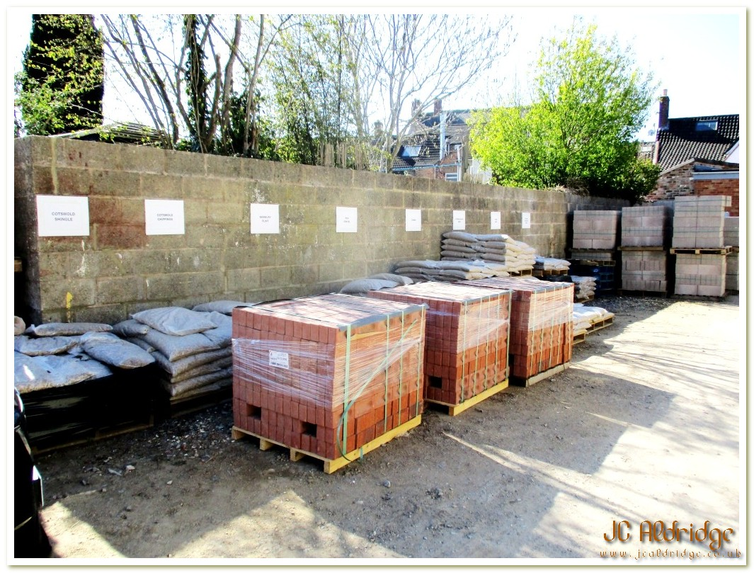 Gloucestershire materials section in the builders yard